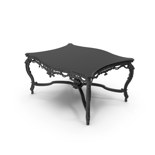 Black Baroque Coffee Table PNG U0026 PSD