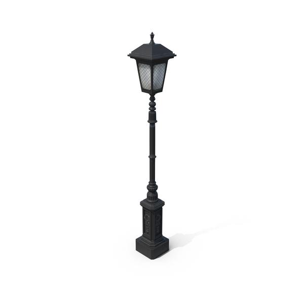 Cast Iron Street Lamp PNG PSD