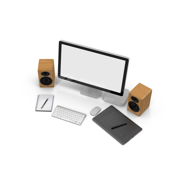 Desktop Scene With Drawing Tablet Png Images Psds For Download Pixelsquid S10547283d