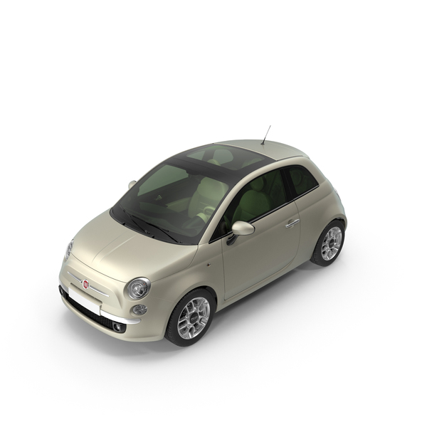 fiat 500 beige png images psds for download pixelsquid s11142320c. Black Bedroom Furniture Sets. Home Design Ideas