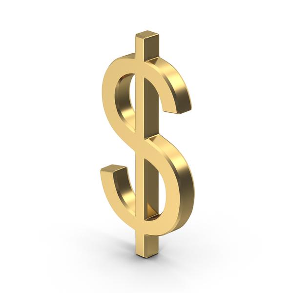 Golden Dollar Sign PNG Images & PSDs for Download