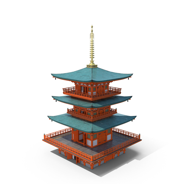 Japanese Temple PNG PSD
