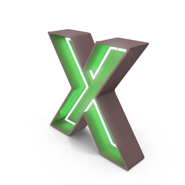 Neon Letter X PNG Images U0026 PSDs For Download PixelSquid