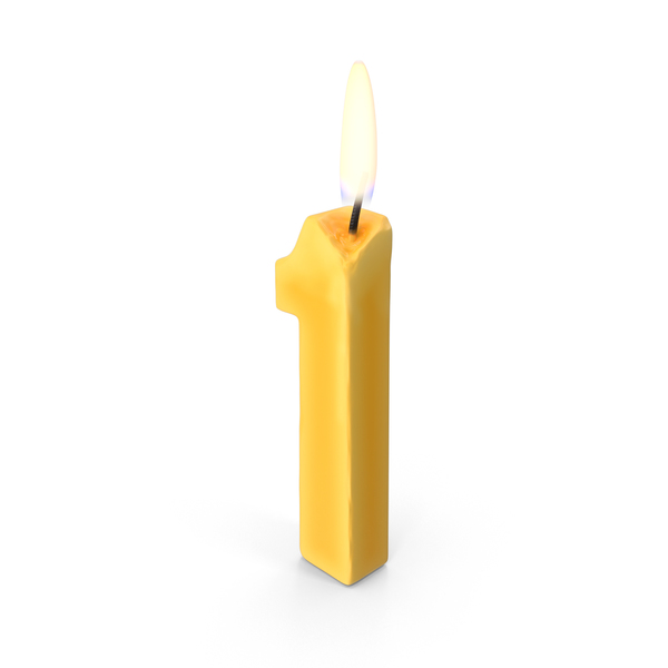 Number One Candle PNG Images PSDs For Download