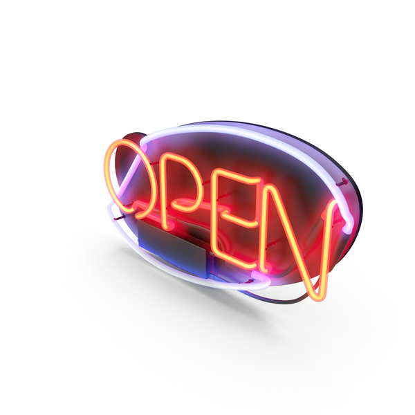 Open Neon Sign PNG Images & PSDs for Download | PixelSquid