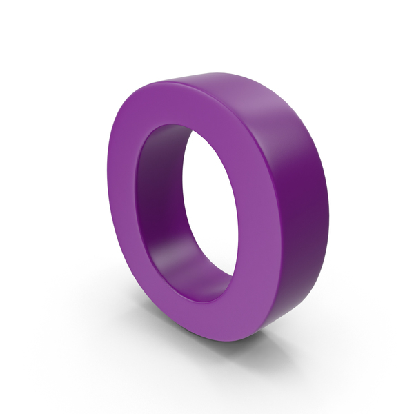 Purple Letter O PNG Im...