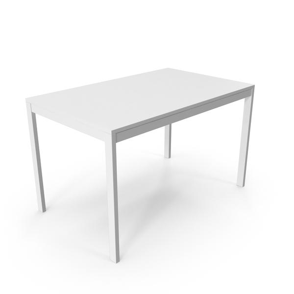 White Scandinavian Dining Table
