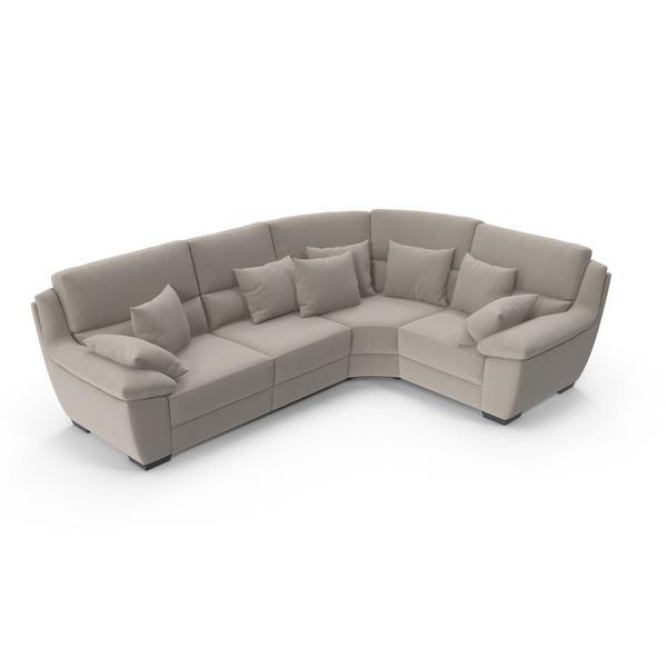 Velvet Corner Sectional Sofa PNG Images & PSDs for Download ...