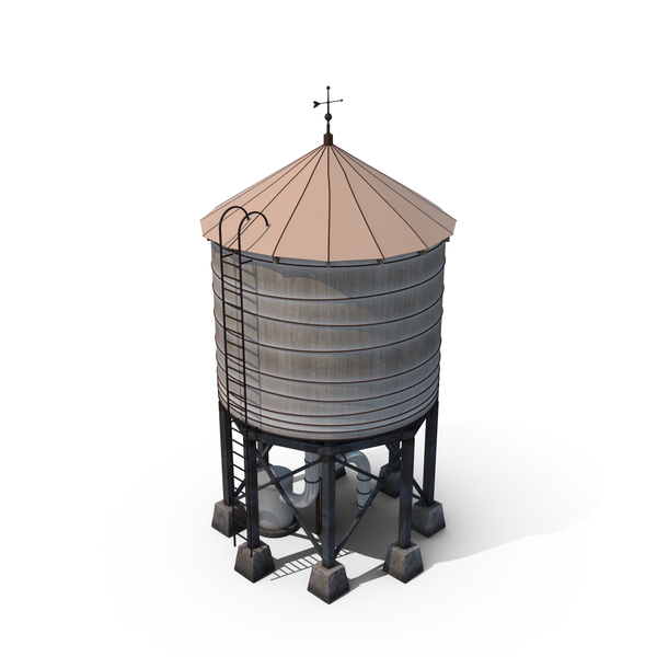 water tower png images psds for download pixelsquid s106008434. Black Bedroom Furniture Sets. Home Design Ideas