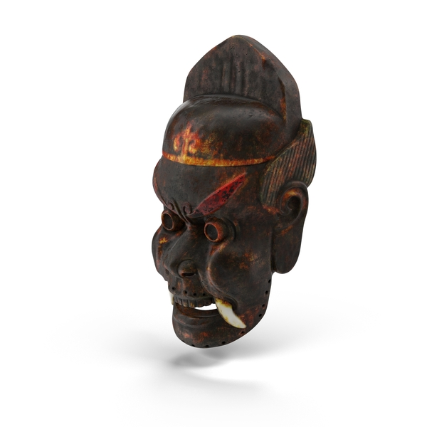 Asian Tribal Mask PNG & PSD Images