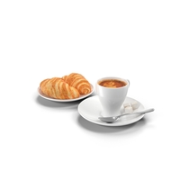Coffee and Croissants PNG & PSD Images
