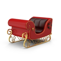 Christmas Sleigh PNG & PSD Images