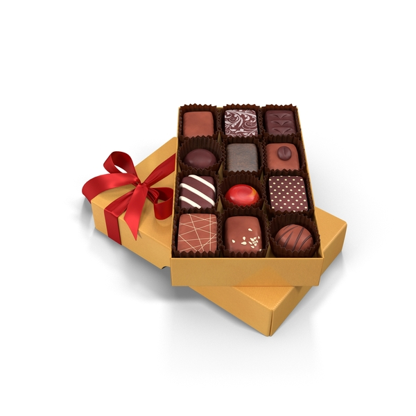 Heart Shaped Box of Chocolates Image - PixelSquid.com ...