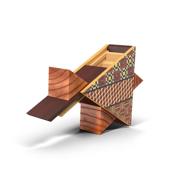 Japanese Puzzle Box Object