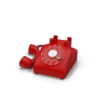 Red Rotary Phone PNG & PSD Images