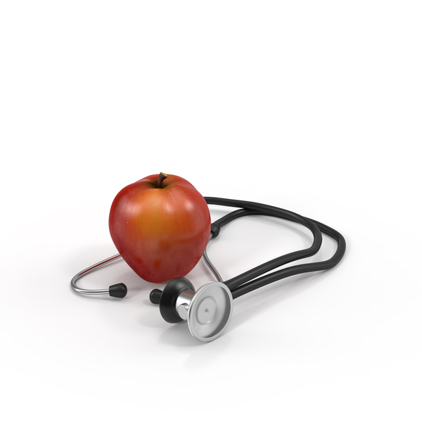 Apple and Stethoscope PNG & PSD Images