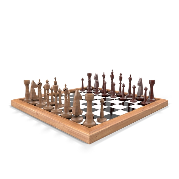 Wooden Chess Set Object