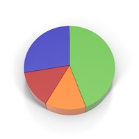 Multicolored Pie Chart PNG & PSD Images