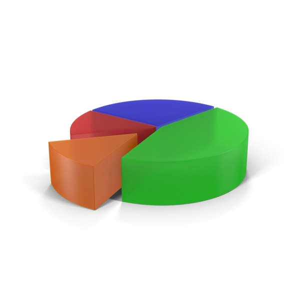 Translucent Multicolored Pie Chart Segment PNG & PSD Images
