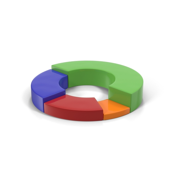 Multicolored Stacked Donut Chart PNG & PSD Images