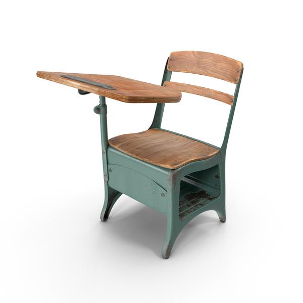 Antique School Desk Object