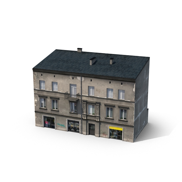 Storefront and Residential Building PNG & PSD Images