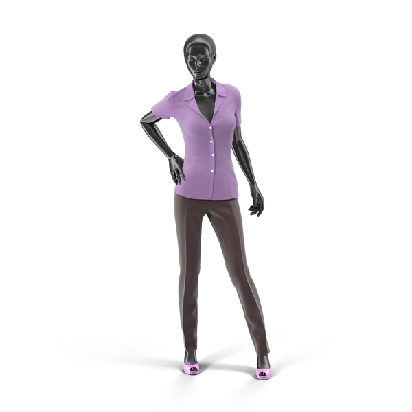 Showroom Mannequin With Pants And Blouse PNG & PSD Images