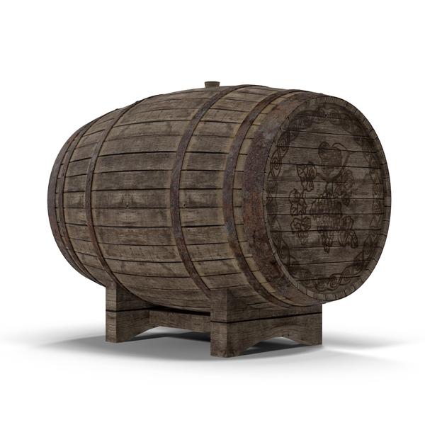 Old Wine Barrel PNG & PSD Images