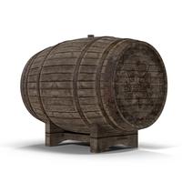 Old Wine Barrel Object