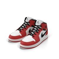 Nike Air Jordan 1 Red And Black PNG & PSD Images