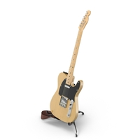 Vintage Electric Guitar On A Stand PNG & PSD Images