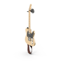 Vintage Electric Guitar On A Wall Mount PNG & PSD Images