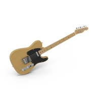 Vintage Electric Guitar Angled PNG & PSD Images