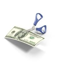 Scissors Cutting Cash PNG & PSD Images