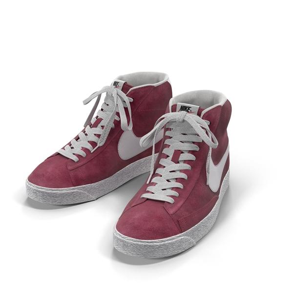 Nike Mid Blazer Red Wine Object