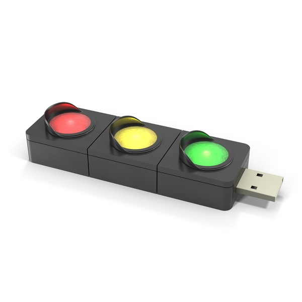 Traffic Light USB Flash Drive And Modem Object