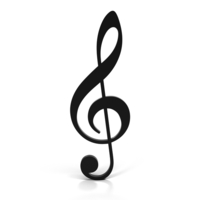 Treble Clef (G clef) PNG & PSD Images