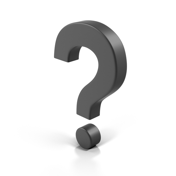 Question Mark Boxy Black PNG & PSD Images