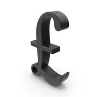 Pounds Symbols Black Script PNG & PSD Images