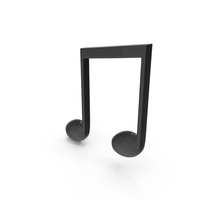 Beamed Musical Note Black PNG & PSD Images