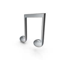 Beamed Music Note Silver PNG & PSD Images