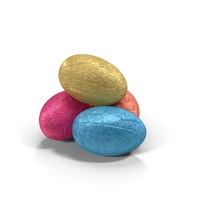 Chocolate Egg in Foil PNG & PSD Images