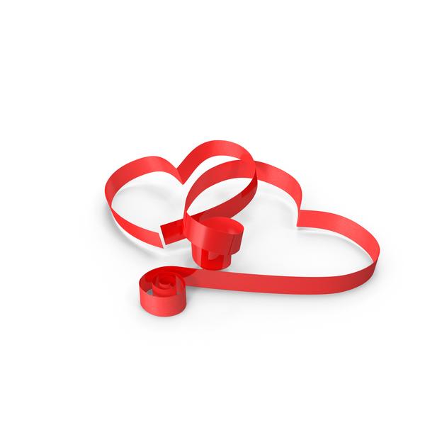 Ribbon Hearts PNG & PSD Images