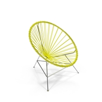 Yellow Acapulco Chair PNG & PSD Images
