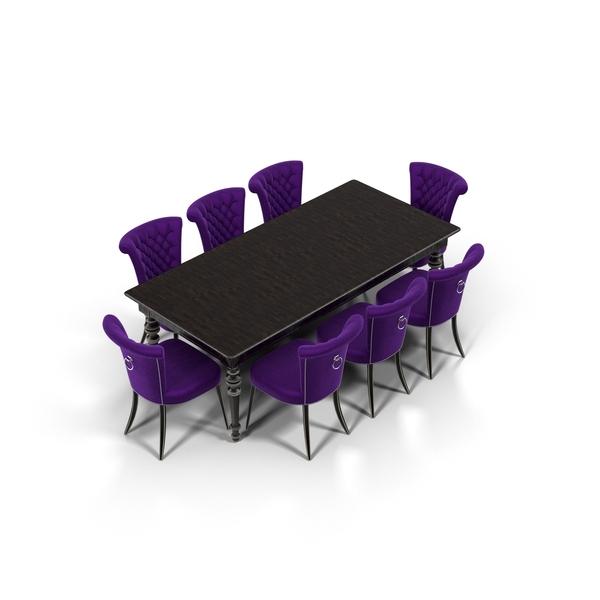 Modern Dining Set PNG & PSD Images
