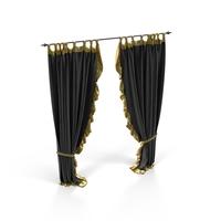 Black Velvet Curtain Object