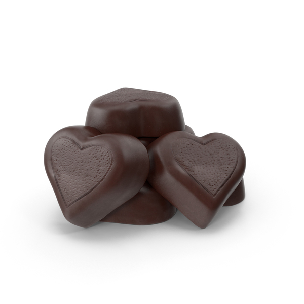 Chocolate Candy Hearts PNG & PSD Images