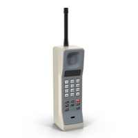 1980's Cell Phone PNG & PSD Images