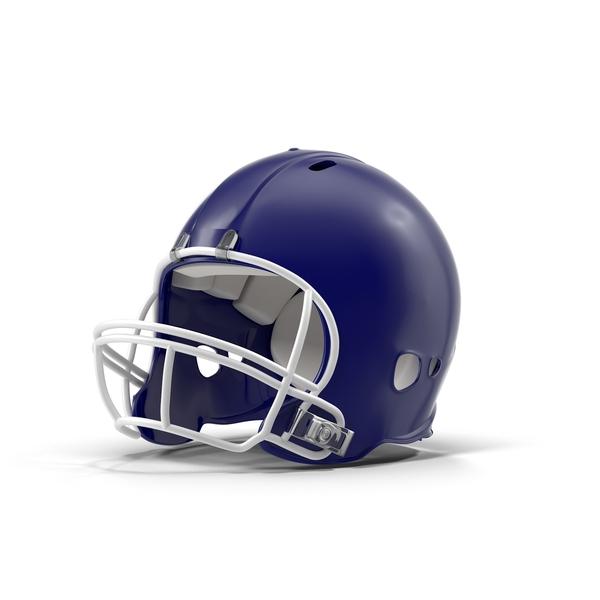 Blue Football Helmet Object