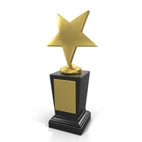 Star Prize Trophy PNG & PSD Images